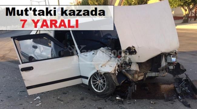 İki otomobilin çarpıştığı kazada 7 yaralı