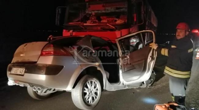 Kamyonun altına giren otomobildeki Mustafa Küçük öldü