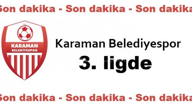 Karaman Belediyespor 3. ligde