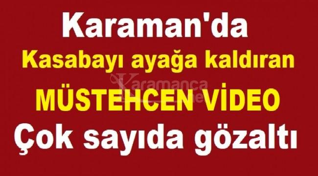 Karaman'da müstehcen video olayı