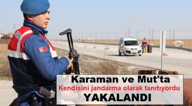 Karaman-Mut arası dolandırıcı trafiği jandarmaya takıldı