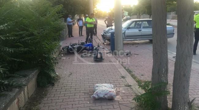 Kulu'daki kazada motosiklet sürücüsü Fevzi Ünlü öldü