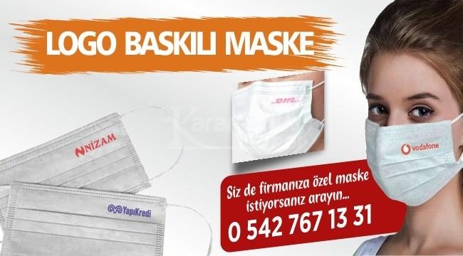Firmalara özel logo baskılı maske