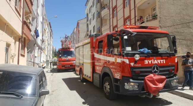 Karaman'da havalandırma boşluğunda çıkan yangın korkuttu