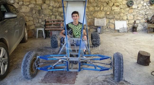 Karaman'da lise öğrencisi su motorundan Buggy araba yaptı