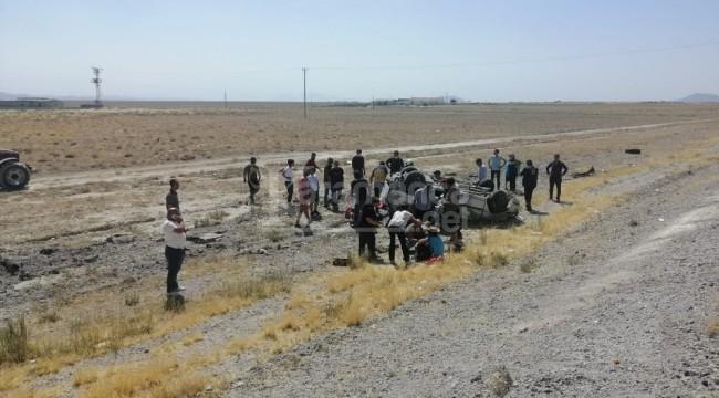 Karapınar'da takla atan otomobilde 3 yaralı