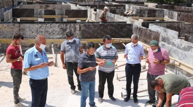 Kazancı'ya yapılacak tekstil atölyesinin temeli törenle atıldı