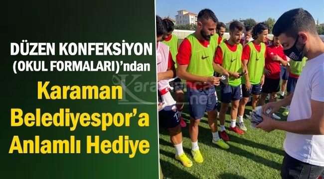 Düzen Konfeksiyon'dan Karaman Belediyespor'a maske desteği