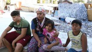 Evsiz kalan 3 çocuklu annenin damda yaşam mücadelesi
