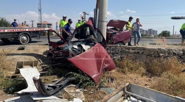 Hurdaya dönen otomobilin sürücüsü öldü