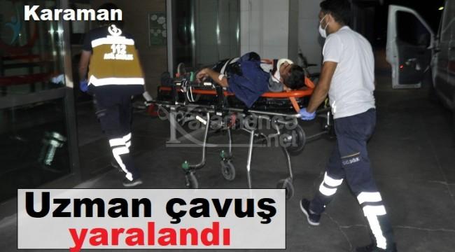 Karaman'daki kazada uzman çavuş yaralandı