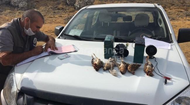 Karaman'da O avcılara 30 bin 667 lira ceza