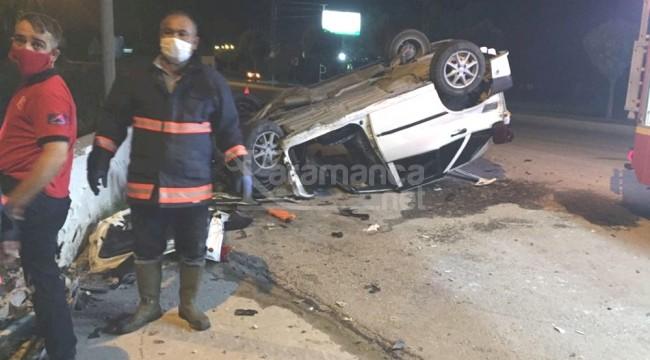 Mut-Karaman yolundaki kazada 1 yaralı