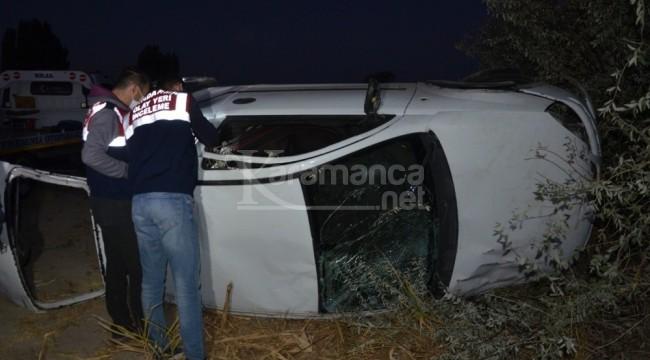 Ağaçlık alana uçan otomobilde 1 kişi öldü