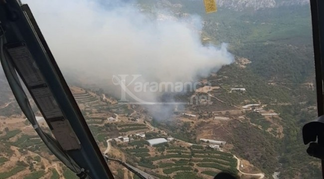 Anamur'daki orman yangını sürüyor