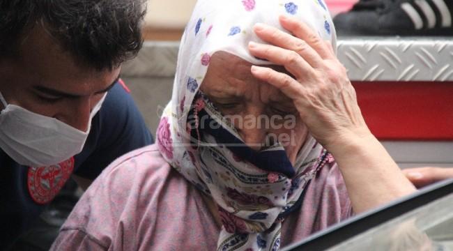 Evine girdiği yaşlı kadını rehin aldı