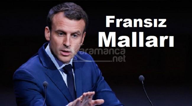 Fransız malları, Fransa malları boykot listesi