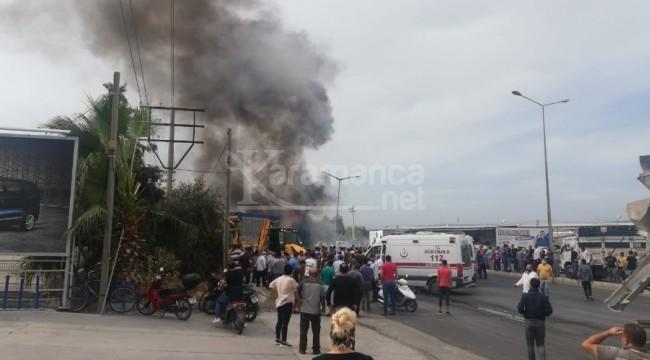TIR ile kamyonlar kazaya karışınca can pazarı yaşandı