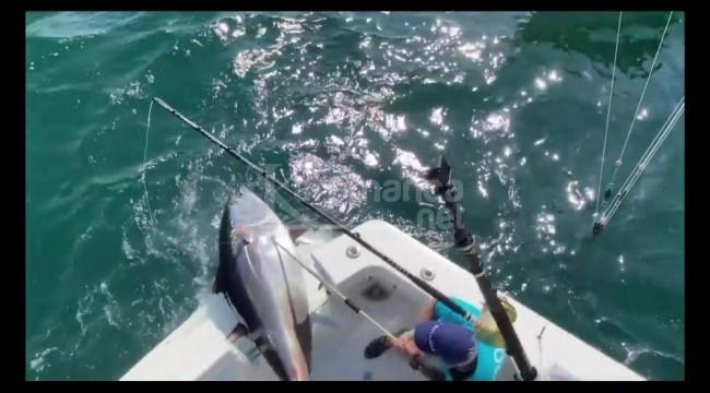 Yakaladığı 260 kiloluk balığı Çocuk Esirgeme Kurumuna bağışladı