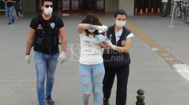 Yakalanan kadının sütyeninden hassas terazi çıktı