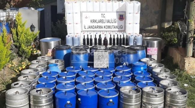 Karahalil'de 2 ton kaçak şarap ele geçirildi