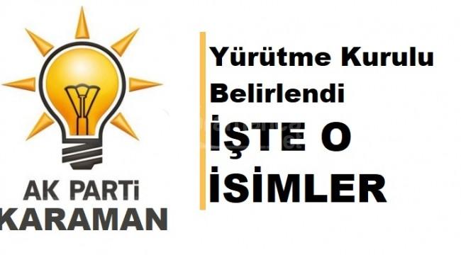 Karaman Ak Parti'de yeni yürütme kurulu belirlendi