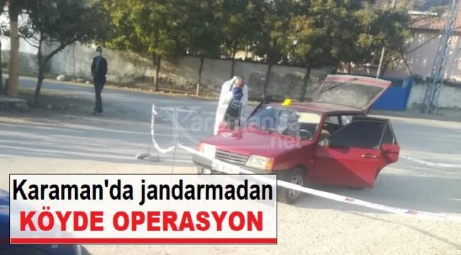 Karaman'da jandarma şüpheli şahsı köyde yakaladı