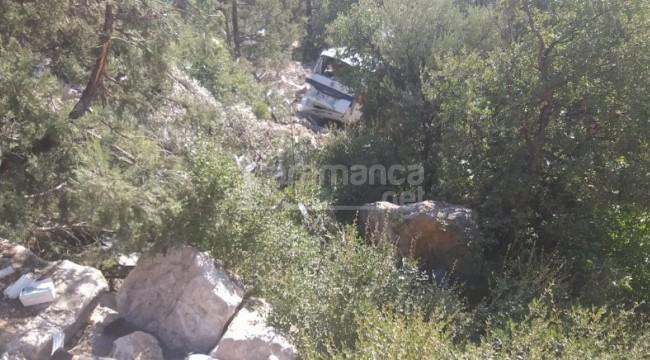 Uçuruma yuvarlanan kamyonetteki Selçuk Şentürkoğlu öldü