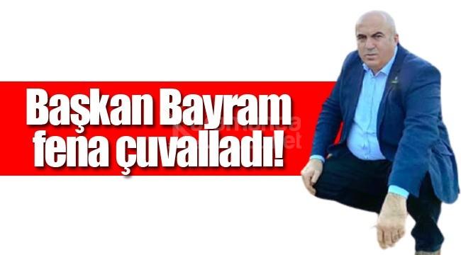 Başkan Bayram fena çuvalladı