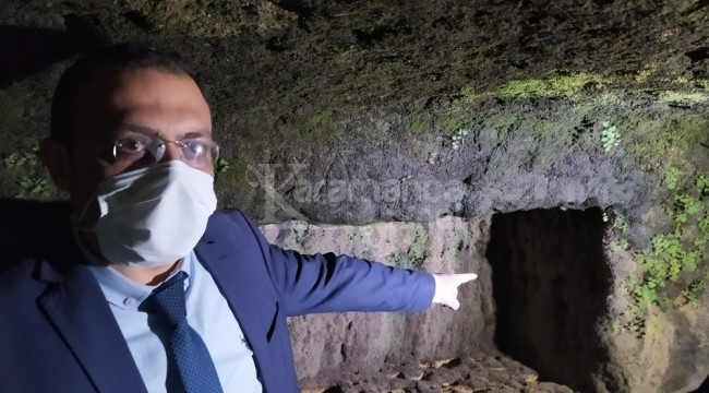 Sular çekilince kaya mezarlar ortaya çıktı