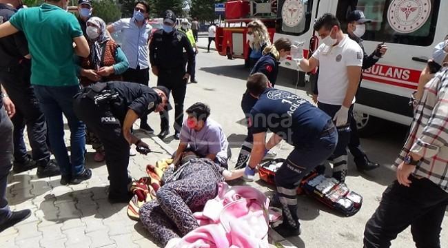 Karaman'da genç kadın kendini balkondan attı