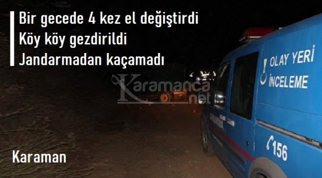 Karaman'da jandarma adım adım iz sürerek şahısları yakaladı