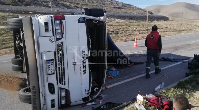 Takla atan kamyonette 1 yaralı