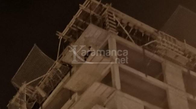 Bunalıma giren şahıs 12 katlı inşattan atlamak istedi