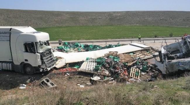 TIR'ların çarpıştığı kazada kaptanla birlikte 2 ölü