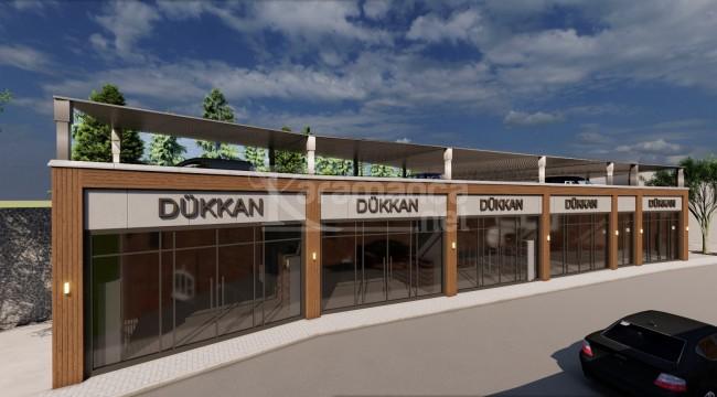 Hadim'e yeni dükkanlar ve otopark yapılıyor