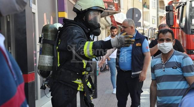 Karaman'daki işyerinde çıkan yangın söndürüldü