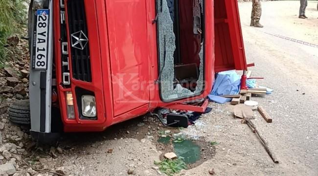 Kayalıklara çarpan kamyonetteki Hilmi Künbül öldü