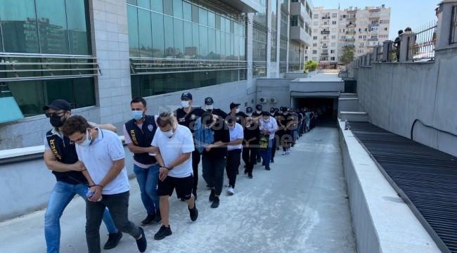 Mersin merkezli 18 ilde operasyon: 35 tutuklama