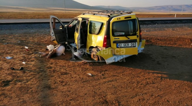 Şarampole devrilen ticari taksideki Arif Yıldırımer öldü