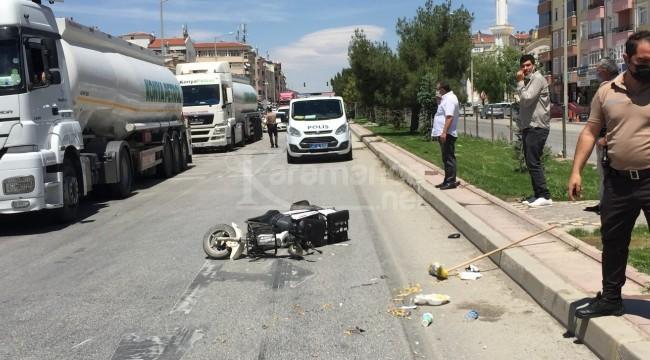 Triportörle elektrikli bisikletin çarpıştığı kazada 2 yaralı