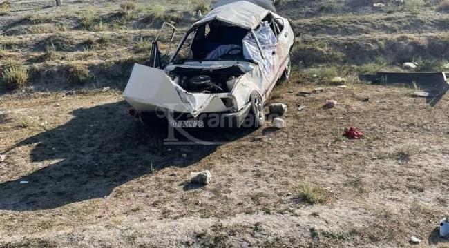 Şarampole devrilen otomobilde 1 ölü, 3 yaralı