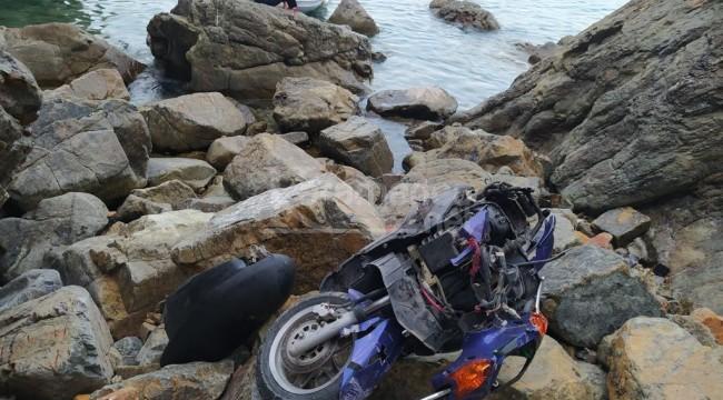 Uçuruma yuvarlanan motosikletteki Cengizhan Tutka öldü