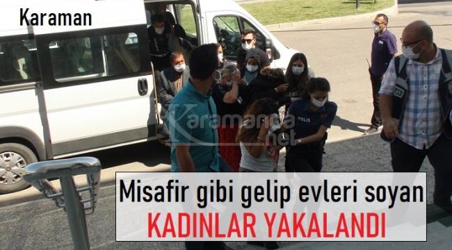 Karaman'da hırsızlık yapan 3'ü kadın 4 kişi yakalandı