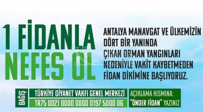 Karaman Önder fidan bağışına ''Bende varım'' dedi