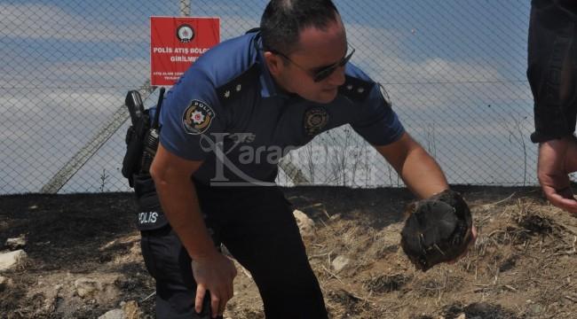 Poligondaki yangında kaplumbağayı yanmaktan polisler kurtardı