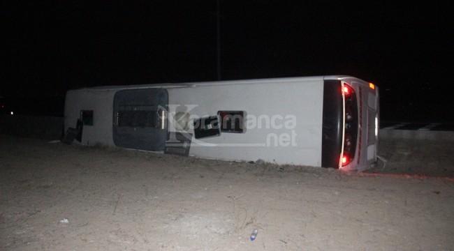 Devrilen yolcu otobüsünde 14 yaralı