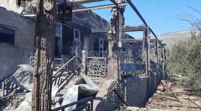 Dinlenme tesisi ile kasap dükkanında yangın