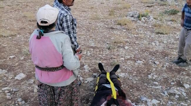 Karaman'da ateş alan tüfeğiyle yaralanan çoban kurtarıldı