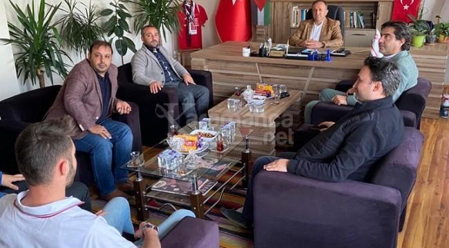 Gazeteciler Cemiyeti'nden Başkan Sarı'ya 'Hayırlı olsun' ziyareti